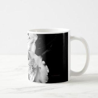 Black and White Alstroemeria Lily Mug