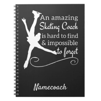 Black and white Amazing Figure skating coach Notebook