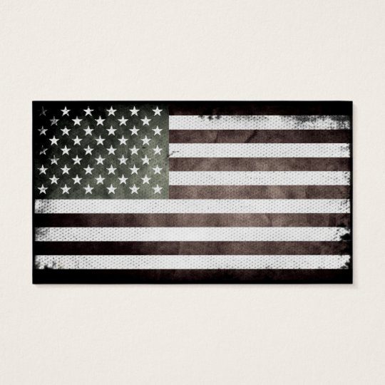 Black and white american flag business card zazzle black and white american flag business card colourmoves