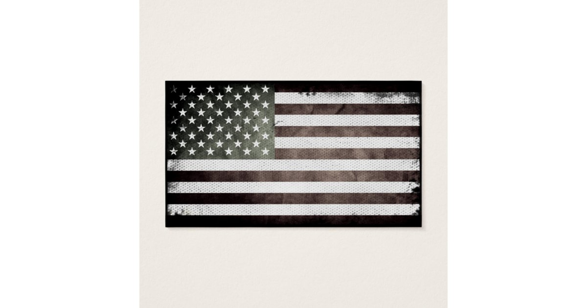 Black and White American Flag Business Card | Zazzle.com