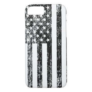 Black and White American Flag iPhone 7 case