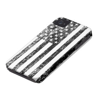 Black and White American Flag iPhone Case iPhone 4 Case-Mate Cases