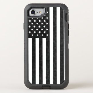 Black and White American Flag OtterBox Defender OtterBox Defender iPhone 7 Case