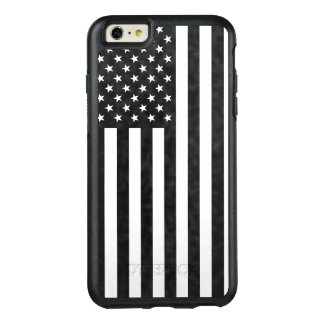 Black and White American Flag OtterBox Defender OtterBox iPhone 6/6s Plus Case
