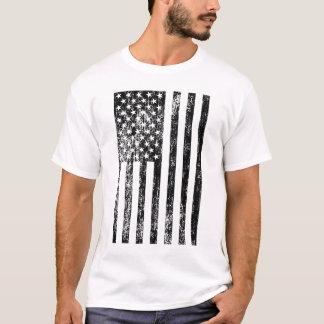Black and White American Flag Shirt