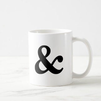 Black and White Ampersand Mug