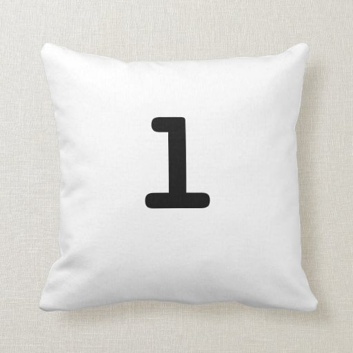 Black and white Anagram Pillow Lowercase Letter l