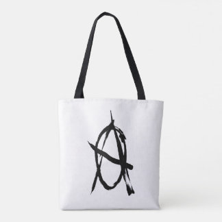 Black and White Anarchy Tote Tote Bag