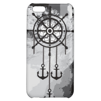 Black and White Anchor Dream Catcher and Sea iPhone 5C Cases