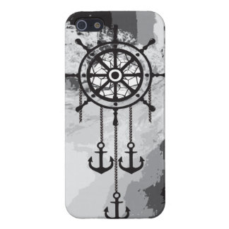 Black and White Anchor Dream Catcher and Sea Covers For iPhone 5