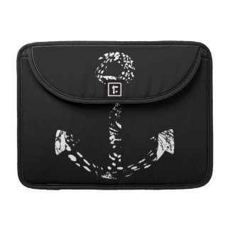 Black and white Anchor Fine Art Sleeves For MacBook Pro