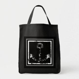 Black and white Anchor Fine Art Tote Bag