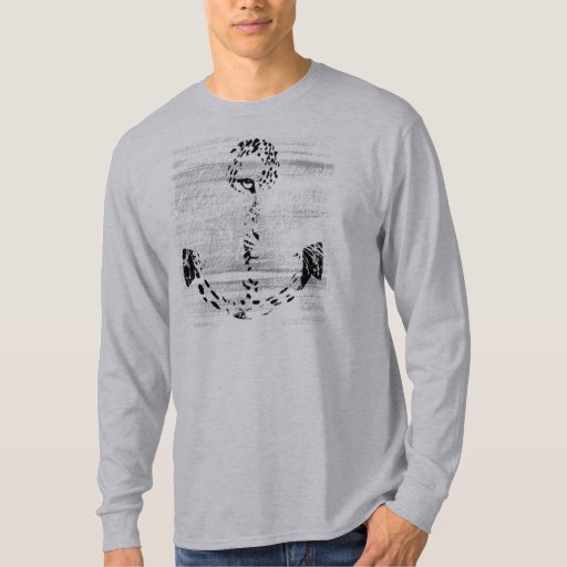 Black and White Anchor Leopard 2 T-Shirt