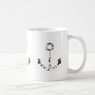 Black and White Anchor Leopard Eye Overlay Coffee Mug