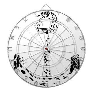 Black and White Anchor Leopard Eye Overlay Dart Board