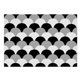 Black and White and Gray Gumdrops Poster