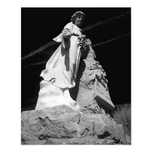 Black and white Angel statue Photograph