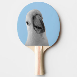 Black and white animal cute cockatoo photo Ping-Pong paddle