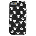 Black and White Animal Paw Pattern. Tough iPhone 6 Case
