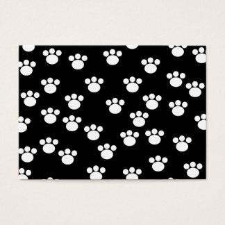 Black and White Animal Paw Print Pattern. Business Card