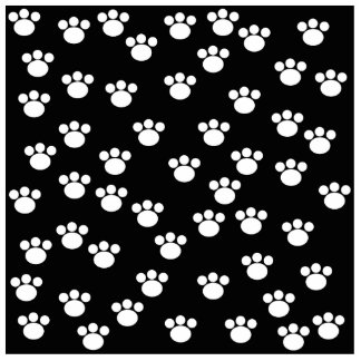 Black and White Animal Paw Print Pattern. Cut Out