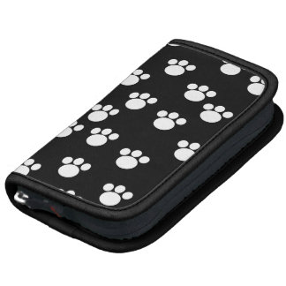Black and White Animal Paw Print Pattern Planners