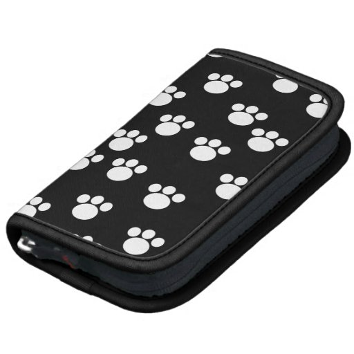Black and White Animal Paw Print Pattern. Planners