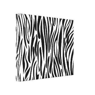 Black and white  Animal print. Canvas Print