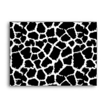 Black and White Animal Print Pattern Envelope