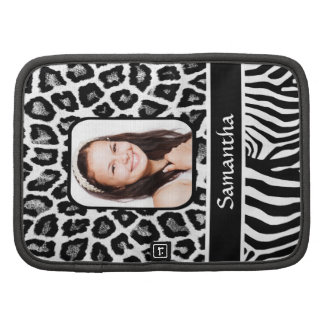 Black and white animal print planners