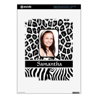Black and white animal print skin for iPad 3