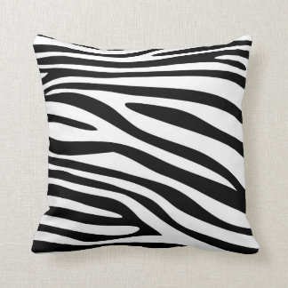 Black and White Animal print skin of Zebra Pillow