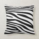 Black and White Animal print skin of Zebra Throw Pillow
