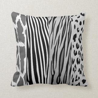 Black And White Animal Printed Zebra Stripe Pillow
