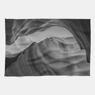 Black and White Antelope Canyon Towel