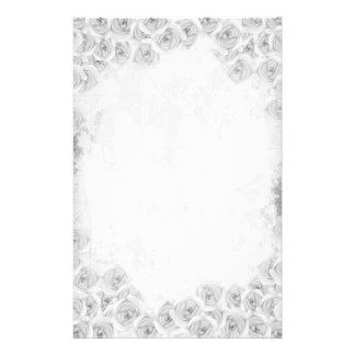 Black and white antique rose Stationery