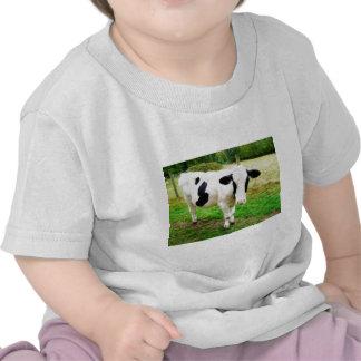 Black and White Apostrophe S Cow Tshirts