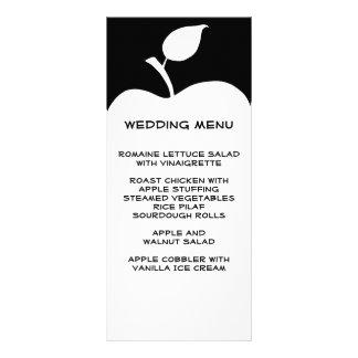 Black and White Apple Wedding Menu