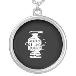 Black and White Aquarius Necklace