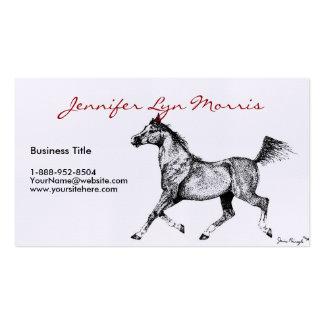 Black and White Arabian Horse Business Card