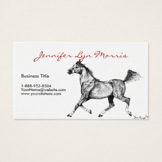 Black and White Arabian Horse Business Card