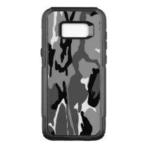 Black and White Arctic Camo OtterBox Commuter Samsung Galaxy S8  Case