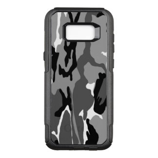 Black and White Arctic Camo OtterBox Commuter Samsung Galaxy S8  Case