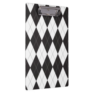 Black and White Argyle Clipboards