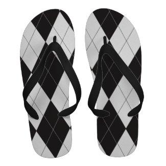 Black and White Argyle