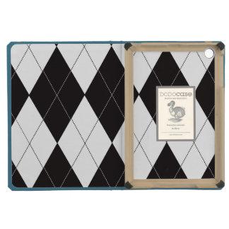 Black and White Argyle iPad Mini Retina Cases