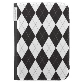 Black and White Argyle Kindle 3G Cover