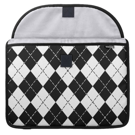 Black and White Argyle MacBook Pro Sleeve-2 MacBook Pro Sleeve