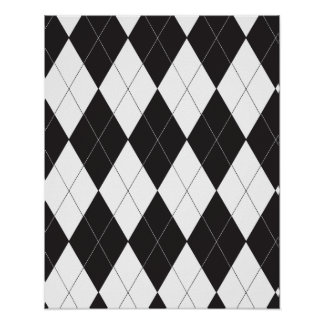 Black and White Argyle Posters