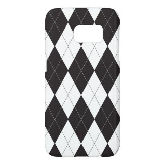 Black and White Argyle Samsung Galaxy S7 Case